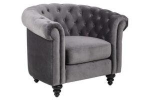 Pikowany fotel w stylu glamour charlietown vic