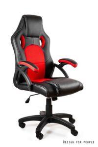 Gamingowy fotel dynamiq v7 czarno-czerwony