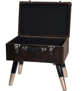 Tapicerowany stołek ze schowkiem loren