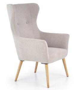 Tapicerowany fotel wypoczynkowy cotto jasny popiel