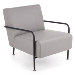 Fotel wypoczynkowy tapicerowany skórą naturalną cuper