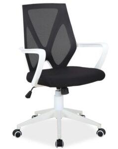 Krzesło obrotowe z niskim oparciem q-258 z tkaniny membranowej