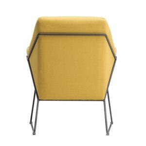 Tapicerowany fotel na płozach dakota