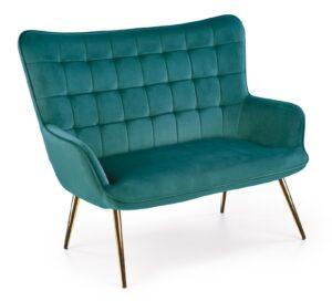 Tapicerowana sofa z pikowanym oparciem castel 2 xl