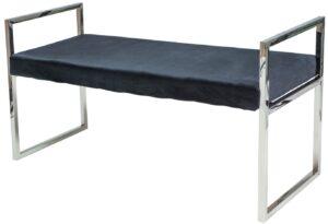 Tapicerowana ławka na metalowych płozach hermes