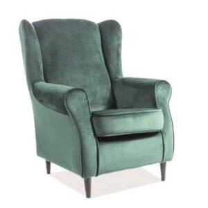 Tapicerowany fotel wypoczynkowy baron velvet