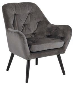 Velvetowy fotel wypoczynkowy astro vic