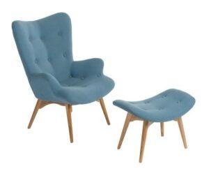 Fotel z podnóżkiem contour