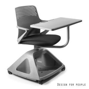 Fotel biurowy z obrotową podstawką do pisania rover 2