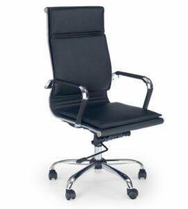 Nowoczesny czarny fotel biurowy mantus