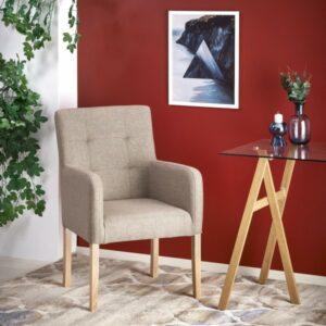 Fotel wypoczynkowy na nogach w kolorze dąb miodowy filo