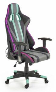 Gamingowy fotel z oświetleniem led i głośnikami bluetooth factor