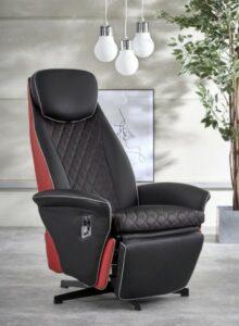 Wypoczynkowy fotel rozkładany z ekoskóry camaro