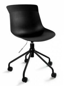 Obrotowe krzesło biurowe z tworzywa easy czarne