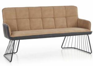 Designerska sofa l-1 z tapicerowany siedziskiem i podłokietnikami