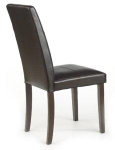 Krzesło z ekoskóry na drewnianych nogach kerry bis