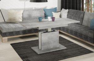 Ławostół lira 140 beton z białą wstawką rozkładany od 110 do 140 cm