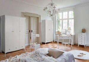 Stołek do toaletki baroque w stylu prowansalskim biały