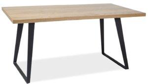 Stół z litego drewna na metalowych płozach falcon