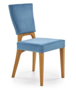 Tapicerowane krzesło do jadalni na drewnianych nogach wenanty