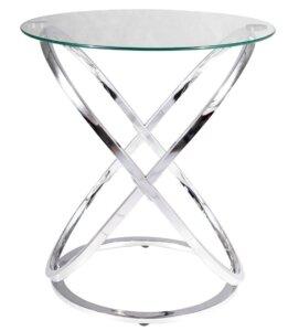 Designerski stolik pomocniczy ze szklanym blatem eos c