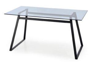Nierozkładany stół z szklanym blatem herald