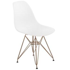 Krzesło p016 pp gold insp. dsr na złotej podstawie