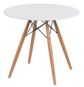 Skandynawski stół z okrągłym blatem dtw 80