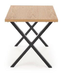 Industrialny stół z fornirowanym blatem apex 140/85