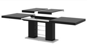 Stół rozkładany w wysokim połysku linosa 2