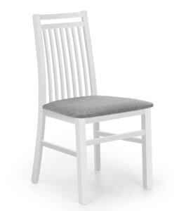 Krzesło do jadalni z tapicerowanym siedziskiem hubert 9 białe
