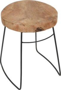Stołek na płozach pemba w stylu loftowym