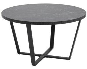 Designerski stolik kawowy na płozach amble imitacja czarnego marmuru
