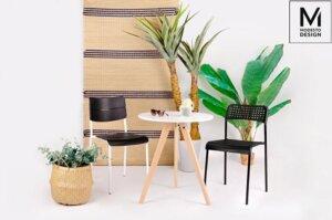 Krzesło kawiarniane na stalowych nogach bez podłokietników rene