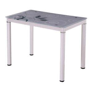 Stół ze szklanym blatem damar 100/60