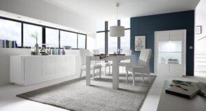 Nierozkładany stół do jadalni paradise 140 w kolorze białym