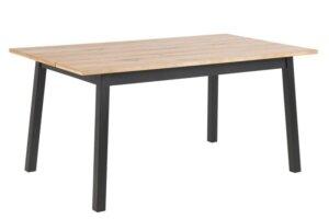 Stół nierozkładany do jadalni na czarnych nogach chara m