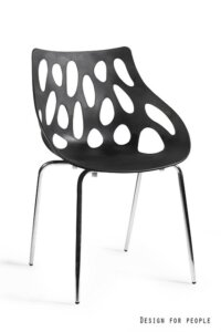 Designerskie krzesło z polipropylenu area czarne