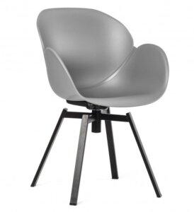 Obrotowe krzesło z tworzywa sztucznego malmo