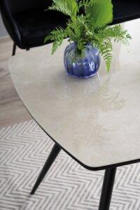 Elegancki stół jadalniany senso z blatem imitującym marmur