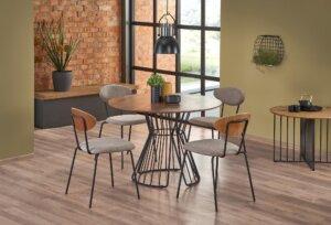 Krzesło do jadalni tapicerowane tkaniną k361