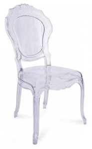 Transparentne krzesło sevilla insp. louis ghost
