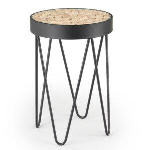 Designerski stolik w stylu industrialnym naturo