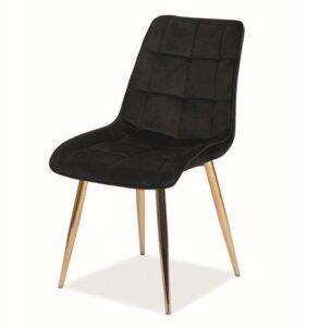 Aksamitne krzesło jadalniane chic velvet na złotej podstawie
