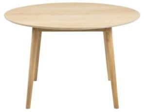 Okrągły stół do jadalni na drewnianych nogach nagano