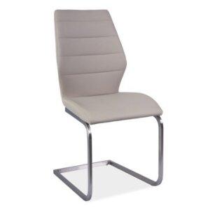 Krzesło w kolorze cappuccino na płozach kevin