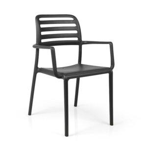Krzesło z polipropylenu costa z podłokietnikami