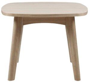 Fornirowany stolik pomocniczy marte bielony
