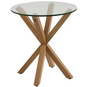 Designerski stolik pomocniczy heaven ze szklanym blatem