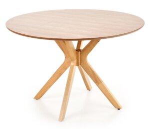 Stół z okrągłym blatem na giętych nogach nicolas
